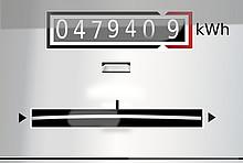 Alter Stromzähler in kWh